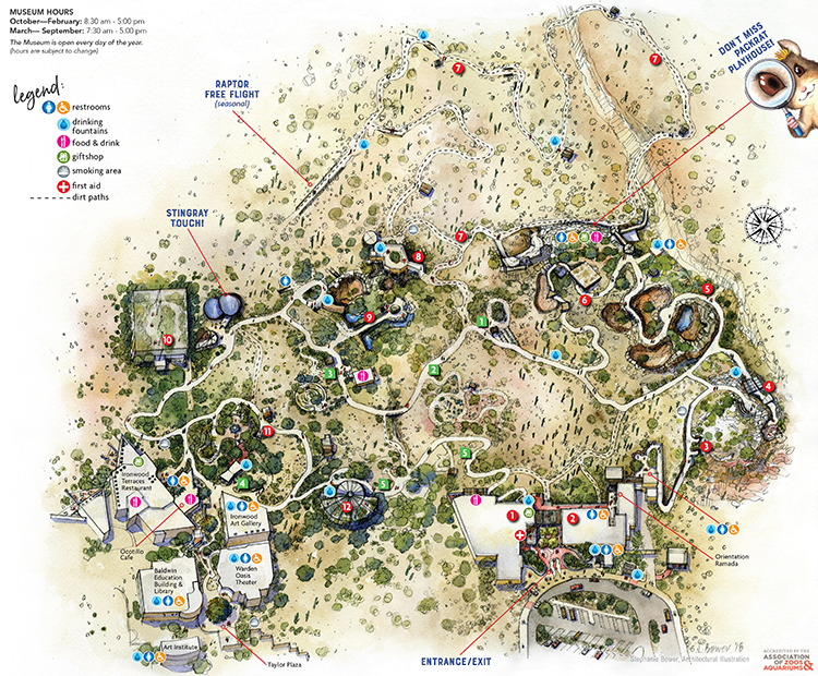 Sonora Arizona Map.What To See And Do