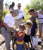 Docent with children