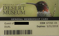 Picture of plastic 'guest of' card
