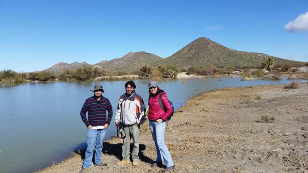RRamon Rameriz, Miguel Gregada and Marie Long at Quitovac Oases