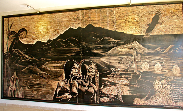 Pinacate Biosphere Reserve Schuk Toak Visitor Center mural project