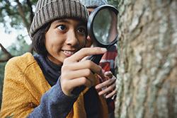 Virtual Camper exploring their backyard