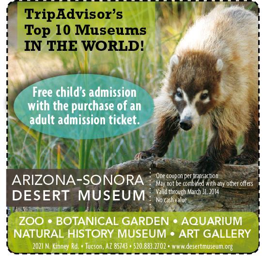 Desert museum coupons 2019