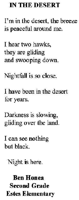 in the desert poem
