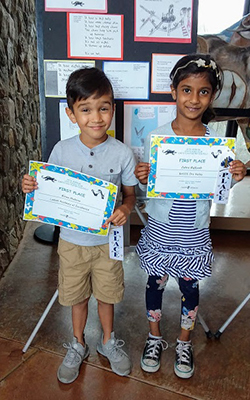 Photo of 2019 Winners, Kiran and Zahra